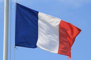 Tricoloren - det franske flag er blåt, hvidt og rødt