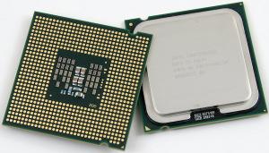 Billede af en CPU, Central Processing Unit