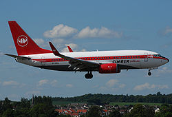 Billede af fly fra det konkursramte Cimber Sterling
