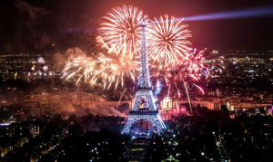 Picture of Paris on New Year's Eve