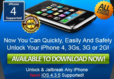 This is the header on the iPhone Unlocker Pro front page