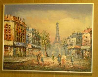 Closeup på det ene af de to motiver fra Paris