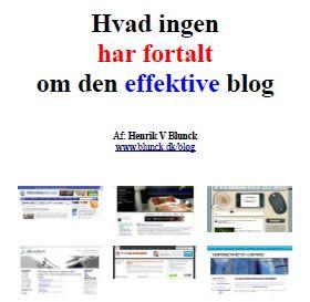 """Forsiden på e-bogen """"Hvad ingen har fortalt om den effektive blog"""""""