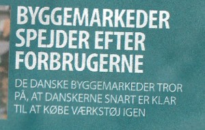 Scan af forsiden p ErhvervsBladet den 14. april 2011 med kmpe stavefejl