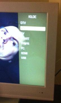 menu på Prosonic 23 tommer fladskærms-tv