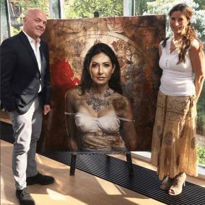 Maleriet af grevinde Alexandra blev vist i Go' Aften Danmark på TV2