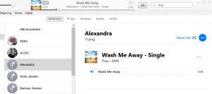 Grevinde Alexandras sang Wash Me Away er i min iTunes - en rigtig god sang!