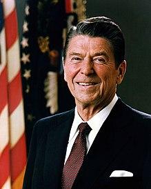 Portræt af den amerikanske præsident Ronald Reagan