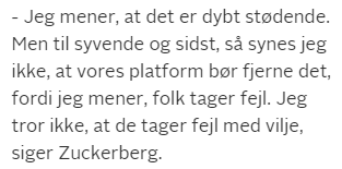 Zuckerberg-citat fra TV2 online.