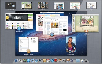 This screendump shows some of the marvelous features of MacOS X Lion